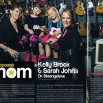 Vancouver singers Sarah Johns and Kelly Brock of Dr Strangelove Mom press
